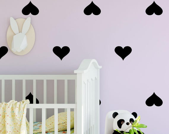 Heart Wall Decal -Confetti Heart Decals - Pattern Decal - Heart Vinyl Decal - Wall Decor - Wall Art - Baby Decal