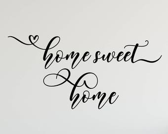 Home Sweet Home  Decal Wall Words Vinyl Lettering Decor quote Vinyl Wall Decal