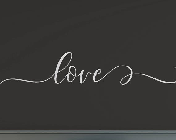 Love Vinyl Lettering Wall Decal