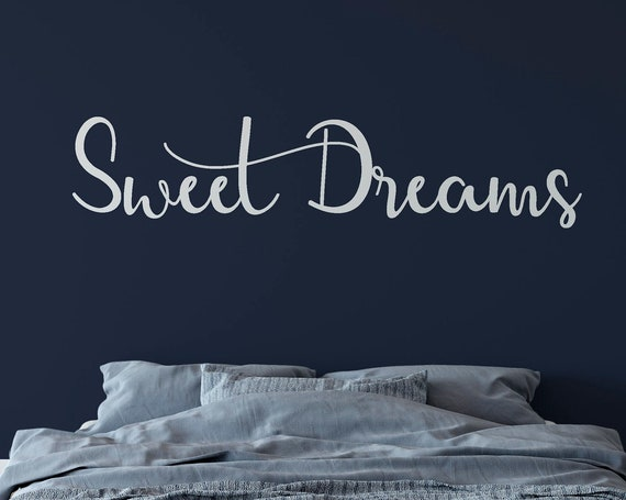 Sweet Dreams Decal Wall Words Vinyl Lettering Bedroom Decor quote Vinyl Wall Decal