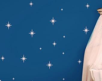 Retro Starbursts  Wall Decals, Confetti Stars - Nursery Decor - Sparkle Star Vinyl Decals - ABST15