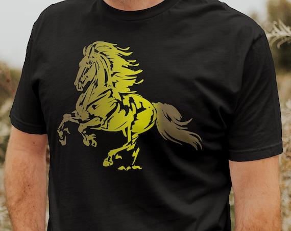 Horse Lover Shirt | Horse Tee | Friesian Horse T-Shirt |  Shirt Graphic | ABHR5-T