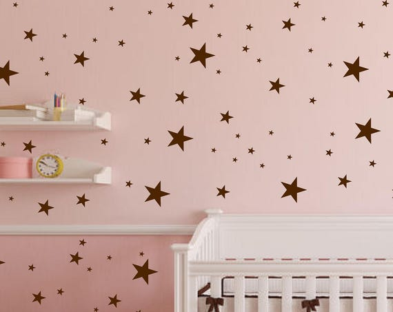 Stars Wall Decals 175 Variety Sizes Nursery  Home Wall Decal 4 Size Star Wall Decal Stars in 4 Sizes Stars Pattern Wall Decal - ABST9
