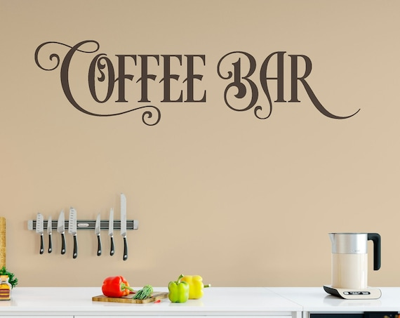 Coffee Bar Vinyl Lettering Wall Decal V_2