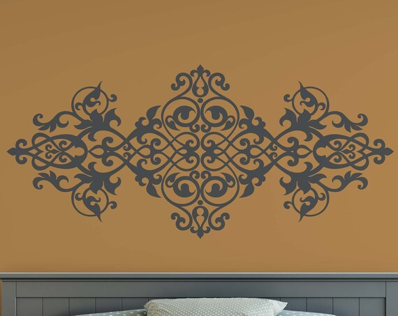 Vintage Baroque Ornament Retro Decorative Antique Design Decor Vinyl Wall Art Decal