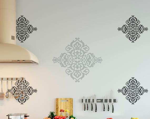 Arabesque Ornament Retro Decorative Antique Design Decor Vinyl Wall Art Decal