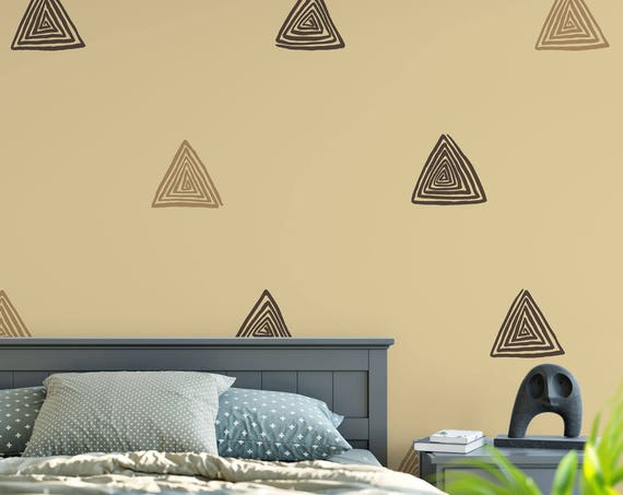 Spiral Triangle Wall Decal, Triangle Wall Decals, Triangle Decal, Triangle Stickers, Nursery Wall Decal, Spiral Pattern Decal ABPT11-7