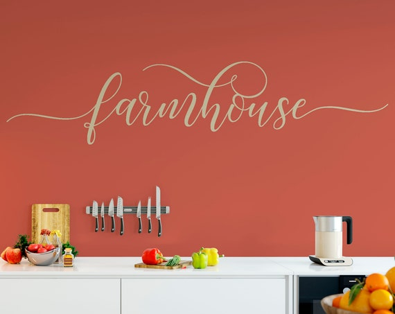 Farmhouse Decal Wall Words Vinyl Lettering Bedroom Decor quote Vinyl Wall Decal