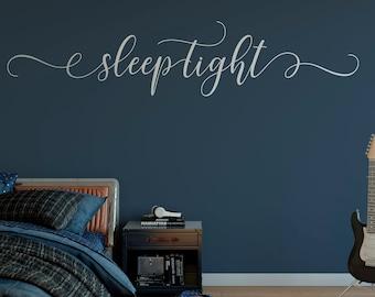 Sleep Tight Wall Decal , Master Bedroom Wall Decal Over Bed, Wall Decal for Bedroom, Sleepy Time Decal