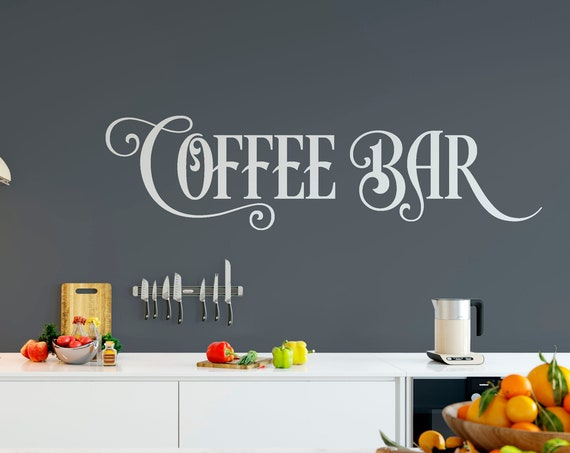 Coffee Bar Vinyl Lettering Wall Decal ABCB2
