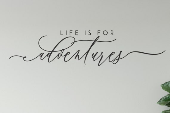 Life Is For Adventures Wall Decal, Vinyl Wall Décor Quotes-ABLIFA1