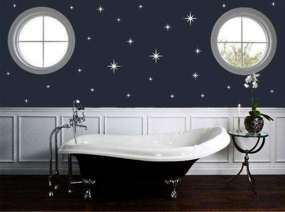 Retro Starburst Vinyl Wall Decals, Confetti Stars - Nursery Decor ABST1- Sparkle Star Decals