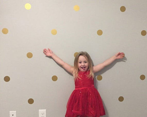 "2.5"" Inches Polka Dot Wall Decals- 2.5 Inches Polka Dots Wall Decor - 2.5 Inch Circle Vinyl Decals Polka Vinyl Wall Stickers"