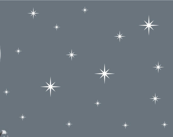 Retro Starburst Vinyl Wall Decals, Confetti Stars - Nursery Decor ABST1- Sparkle Star Decals