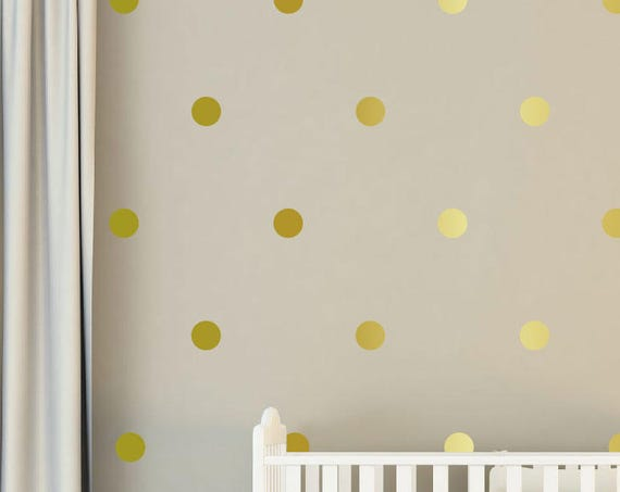 "4"" Inches Polka Dot Wall Decals- 4 Inches Polka Dots Wall Decor - 4 Inch Circle Vinyl Decals Polka Vinyl Wall Stickers"