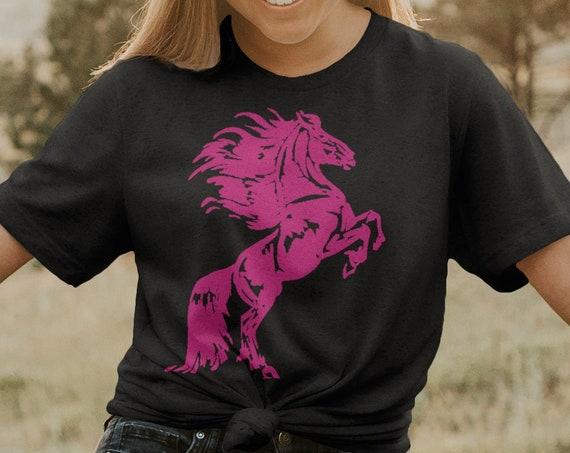 Horse Lover Shirt | Horse Tee | Friesian Horse T-Shirt |  Shirt Graphic | ABHR6-T