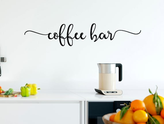 Coffee Bar Vinyl Lettering Wall Decal