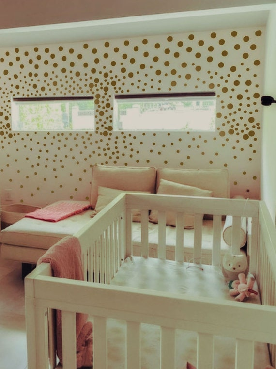 Polka Dot Decals, Peel and Stick Vinyl Wall Sticker, Girls Room Wall Art , Polka Dot Vinyl Sticker , Circle Wall Decals