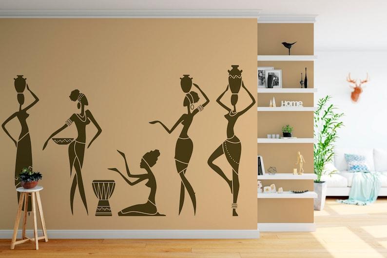 African Woman Girl Africa Women Decals Wall Art Vinyl Sticker  47a8700978