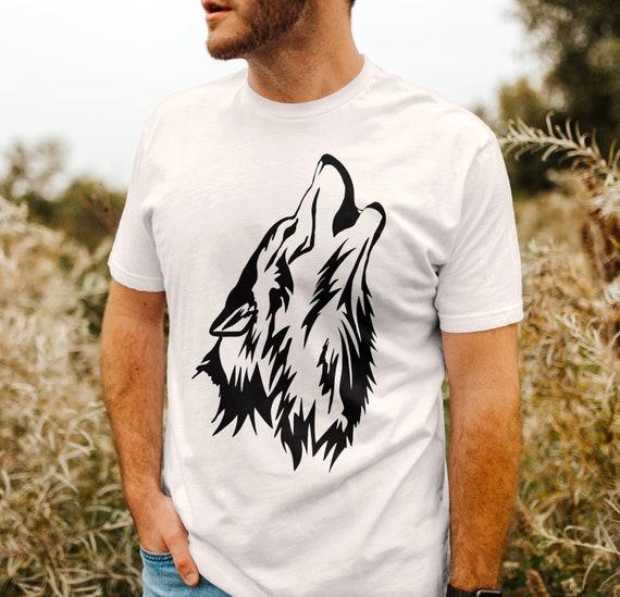 Wolf Howling Shirt | Wolf Tee | Wolf Head T-Shirt |  Shirt Graphic | ABMC2-T