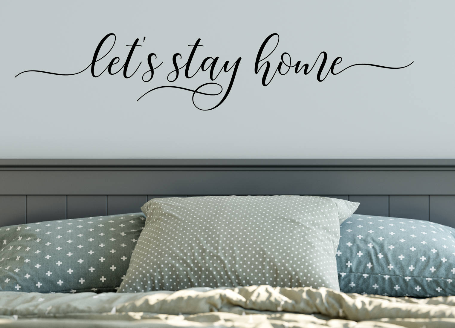 Let\'s Stay Home Decal Wall Words Vinyl Lettering Bedroom Decor quote ...