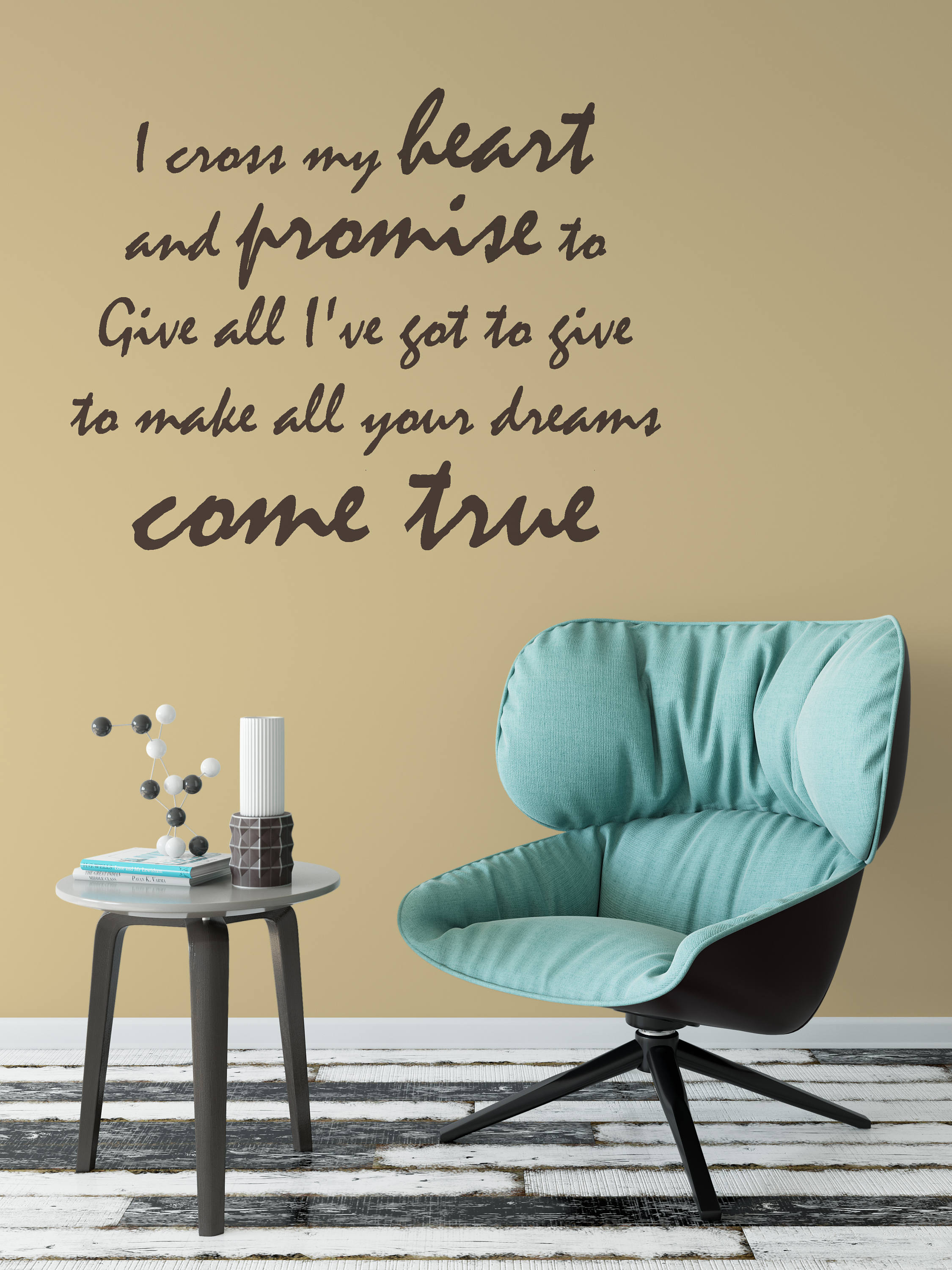 I cross my heart and promise to Give all I\'ve got to give to make ...