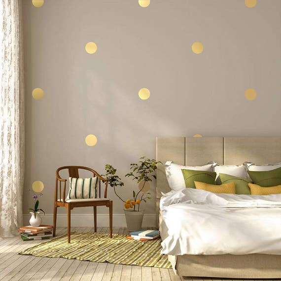 "6"" Inches Polka Dot Wall Decals- 6 Inches Polka Dots Wall Decor - 6 Inch Circle Vinyl Decals Polka Vinyl Wall Stickers"