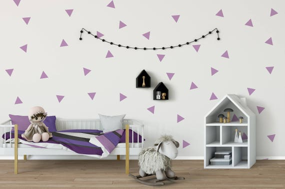 Triangle Wall Decal, Triangle Wall Decals, Wall Decals, Triangle Decal, Triangle Stickers, Nursery Wall Decal, Wall Stickers, Pattern Decal