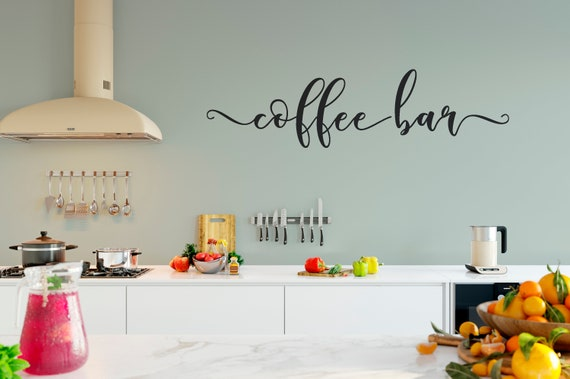 Coffee Bar Vinyl Lettering Wall Decal ABCB3