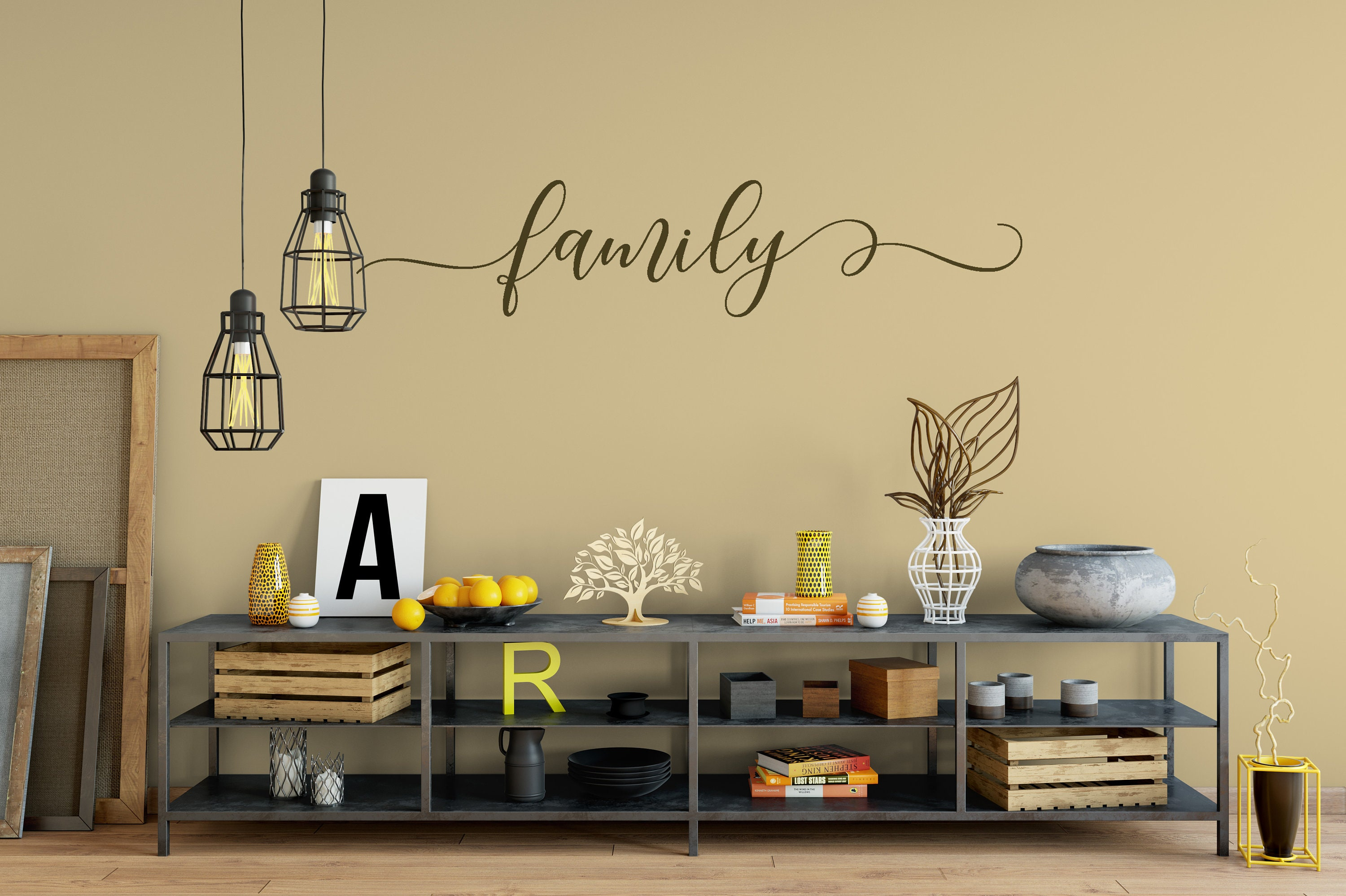 Family Decal Wall Words Vinyl Lettering Bedroom Decor quote Vinyl ...