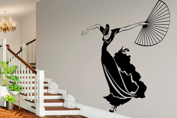 Flamenco Dancer Vinyl Wall Art Decal
