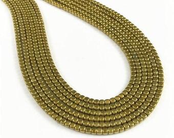 2mm Hematite Beads, Bronze Cube Gemstone Beads,Hematite Jewelry