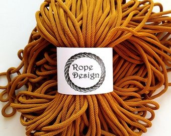 Macrame cord 6mm rope Textile 6mm cord Chunky polyester rope Colored cotton rope 109 yard strong cord Soft textile cord Craft project
