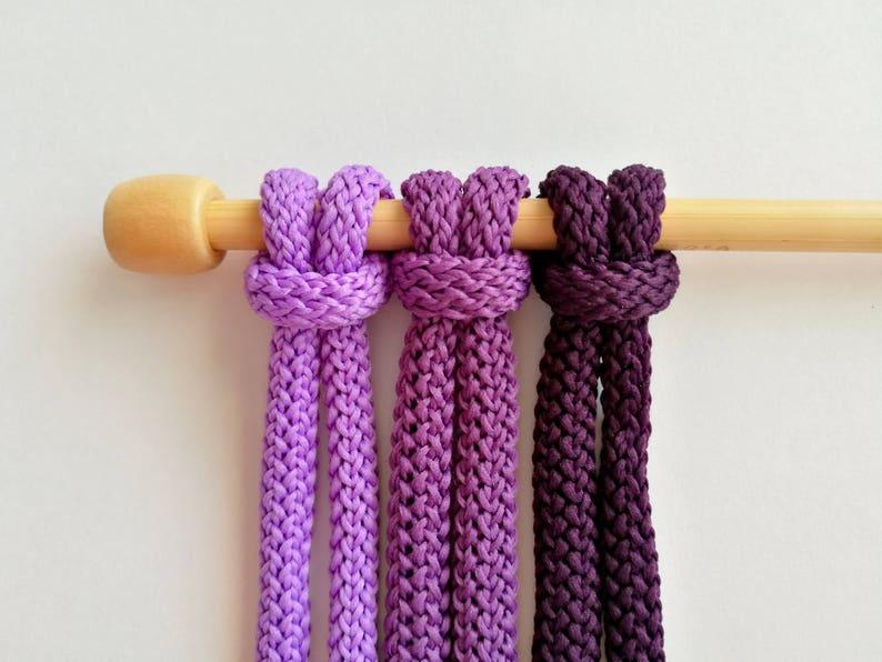 macrame rope chunky polyester cord 6mm Macrame cord craft cord macrame supplies rope chunky macrame yarn macrame yarn 5-10-20 yards