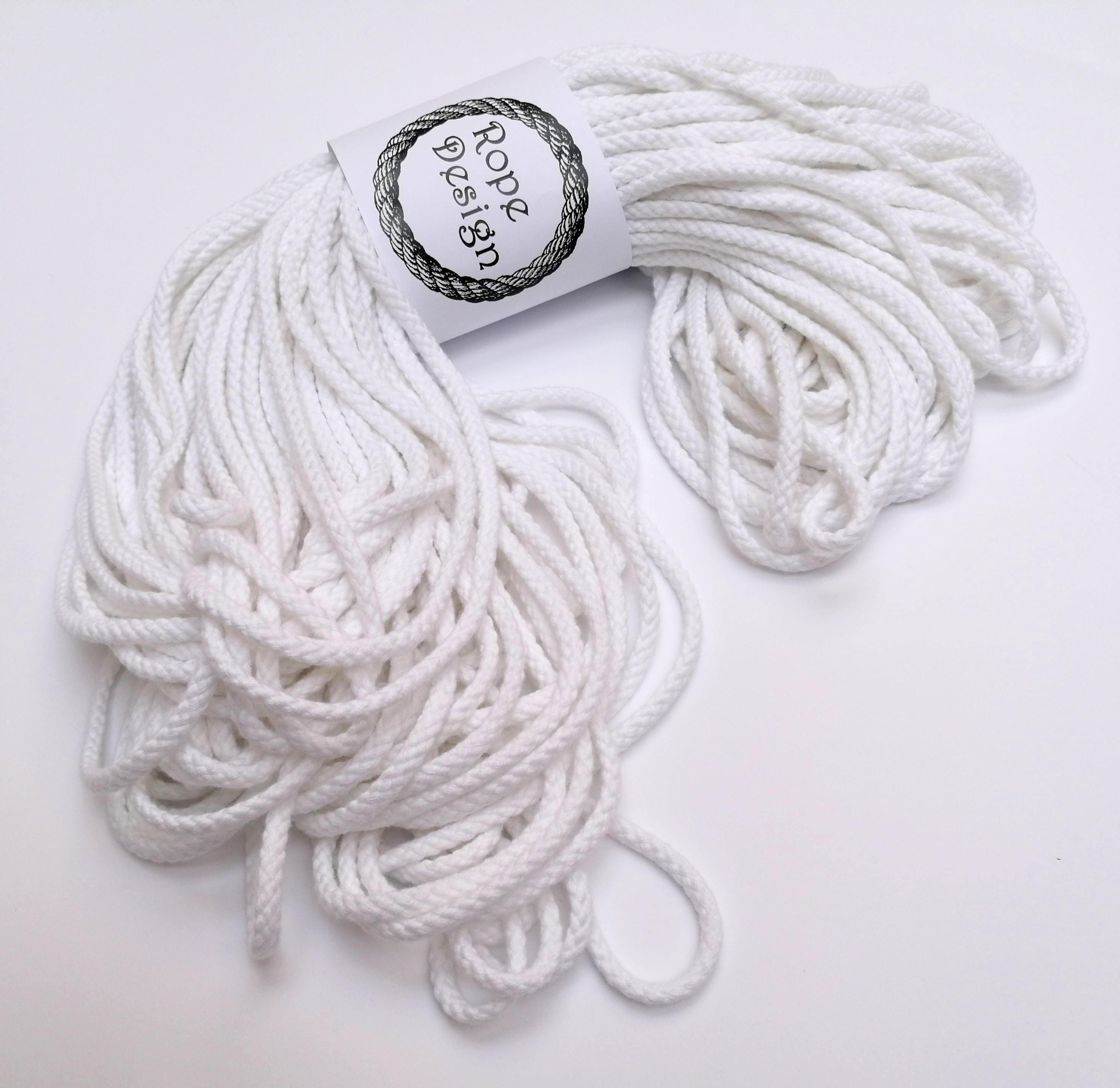 macram coton cordon doux corde blanche 5mm 50 m grosse. Black Bedroom Furniture Sets. Home Design Ideas