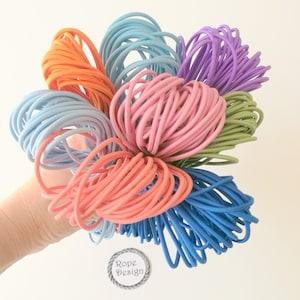5Yds Aqua Elastic Cord,4mm Round Elastic Cord,stretch cord,Stretch Drawstring,Elastic Rope Craft DIY,Nylon wrapped Rubber.