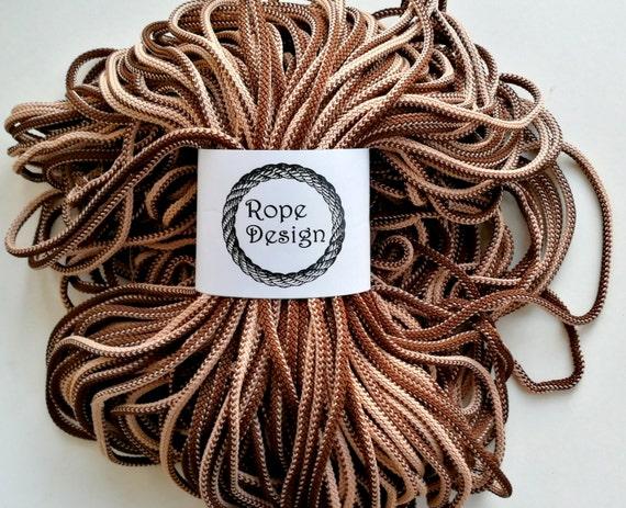macram 6mm corde doux m lange couleur marron textile. Black Bedroom Furniture Sets. Home Design Ideas