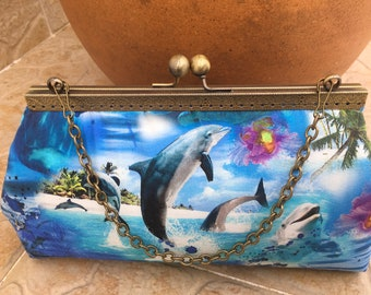 Kisslock Frame Purse, Tropical Purse, Cruise Clutch