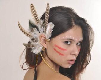 Feather ear wings