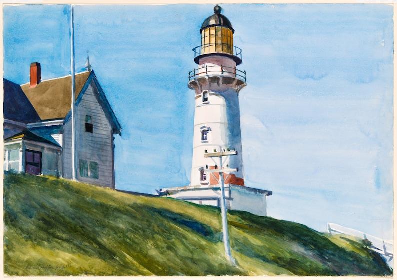 NEW Edward Hopper Lighthouse Hill 1927 Light House Giclee Art Print or Canvas