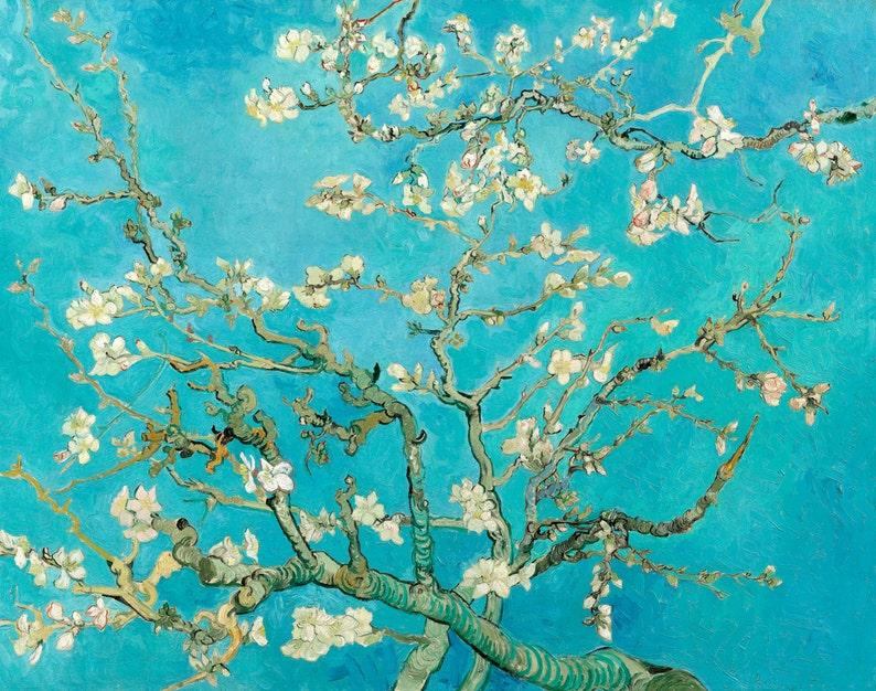 Fade Resistant HD Art Print or Canvas Vincent Van Gogh 1890 Olive Trees