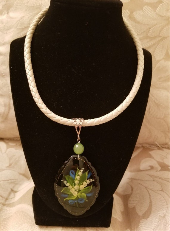 LILY of the VALLEY Pendant and Cord
