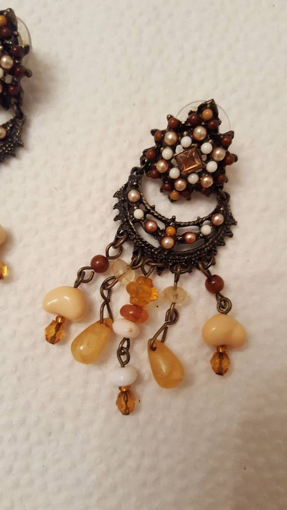 REDUCED!!!  JOAN RIVERS Fringe Necklace & Earrings - image 5