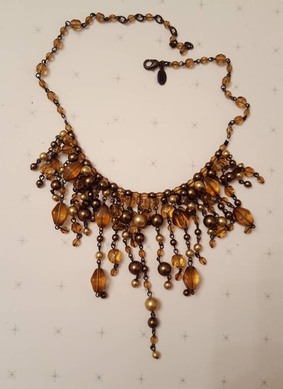 REDUCED!!!  JOAN RIVERS Fringe Necklace & Earrings - image 2