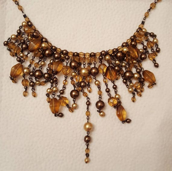 REDUCED!!!  JOAN RIVERS Fringe Necklace & Earrings - image 3