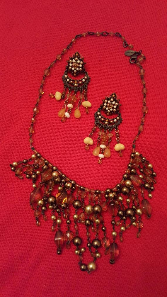REDUCED!!!  JOAN RIVERS Fringe Necklace & Earrings - image 6