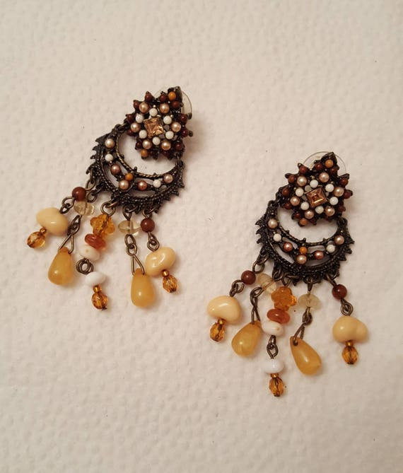 REDUCED!!!  JOAN RIVERS Fringe Necklace & Earrings - image 4