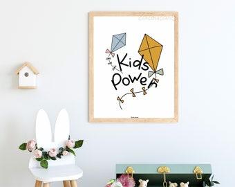 Kids power kites