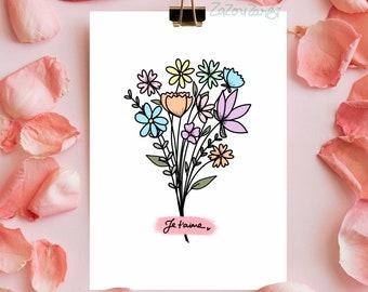 Message bouquet
