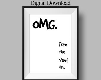 Bathroom Decor - Last Minute Gift- Funny Housewarming Gift - Funny Art Print - Funny Bathroom Art - Gag Gift - Minimalist Poster Design